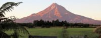 Sunrise on Mount Taranaki, North Island, New Zealand